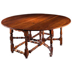 Fabulous Late 19th Century Yewood Eight Seater Gateleg Table
