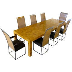 Outstanding Dining Room Suite by Milo Baughman for Thayer Coggin, circa 1970s