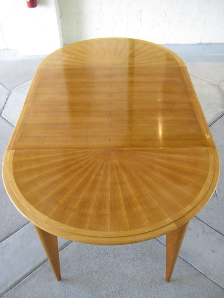 A mid 20th c french cherry wood dining table c 1950 39 s at for Cherry dining table