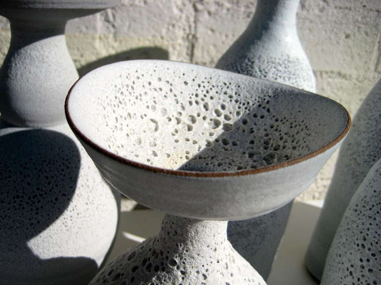 Group of Seven Crater Glazed Vessels by American Artist Jeremy Briddell 1