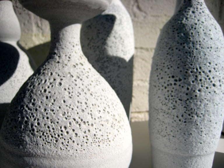 Group of Seven Crater Glazed Vessels by American Artist Jeremy Briddell 2