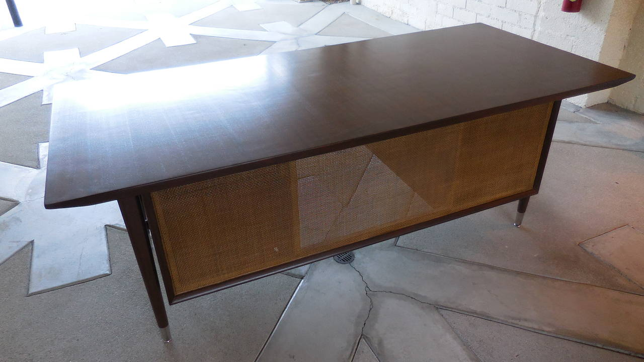 Walnut Executive Desk Attributed to The Standard