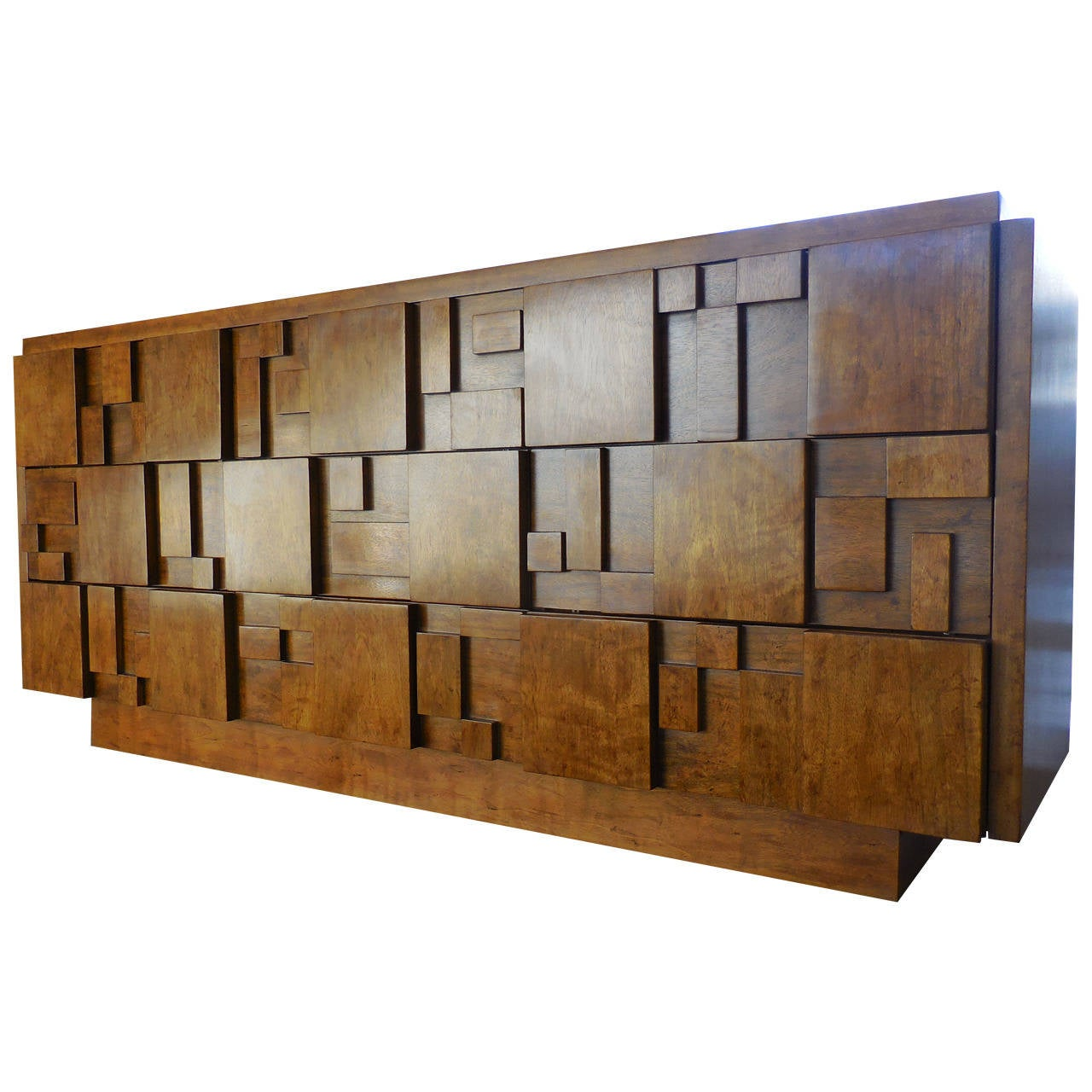 """Lane Switchblade Coffee Table: """"Cubist"""" Sculpted Nine-Drawer Chest By Lane Furniture"""