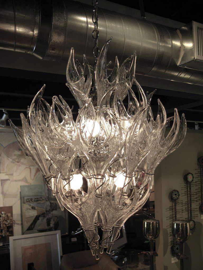 Sensational Vintage Murano Glass Chandelier At 1stdibs