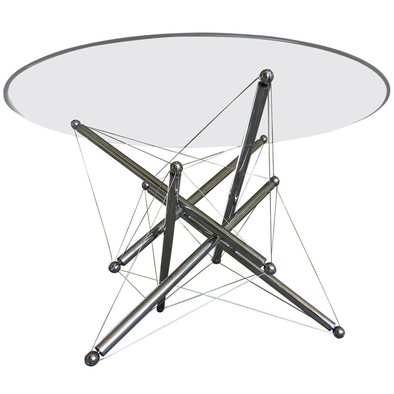 Dynamic tensegrity 714 dining table by theodore waddell for Table html structure