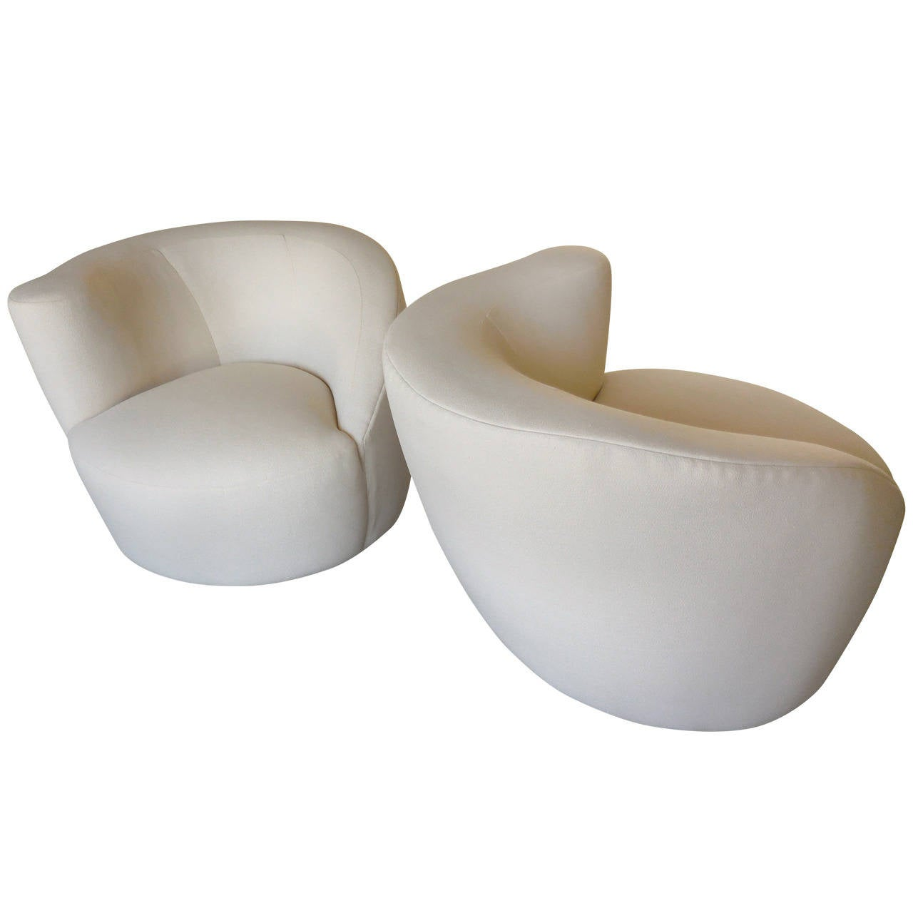 Pair of Vladimir Kagan Corkscrew chairs for Preview, ca. 1992