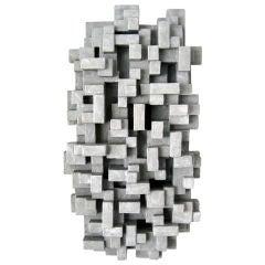 """Nebbia""  A wall sculpture by American Sculptor Dan Schneiger"