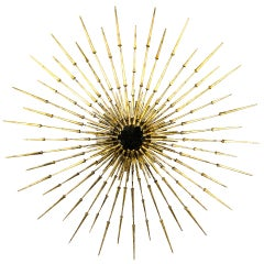 "A Very Large Gilded 48"" Starburst Sculpture By Del Williams"