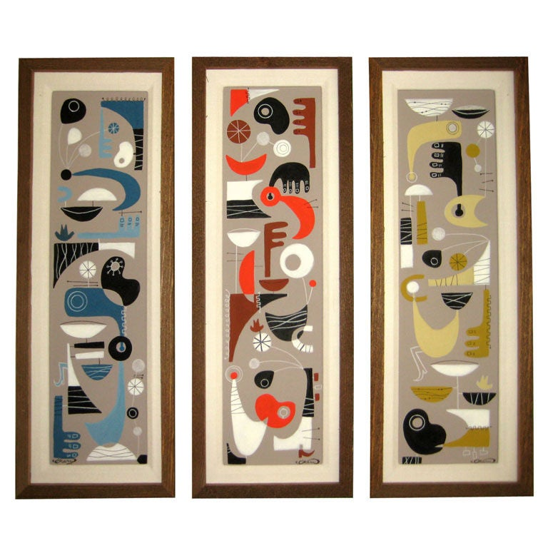 hair styles to do at home quot modernist musings ii quot an original painting triptych by 8908