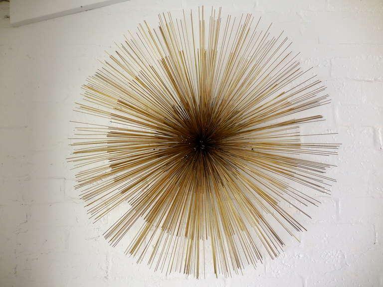 Metal Urchin Wall Decor : A large sea urchin brass wall sculpture by curtis jere c