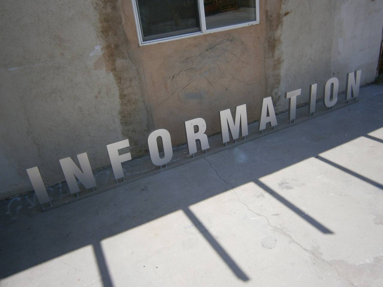 Information a provocative sign constructed of aluminum for Furniture 5 letters