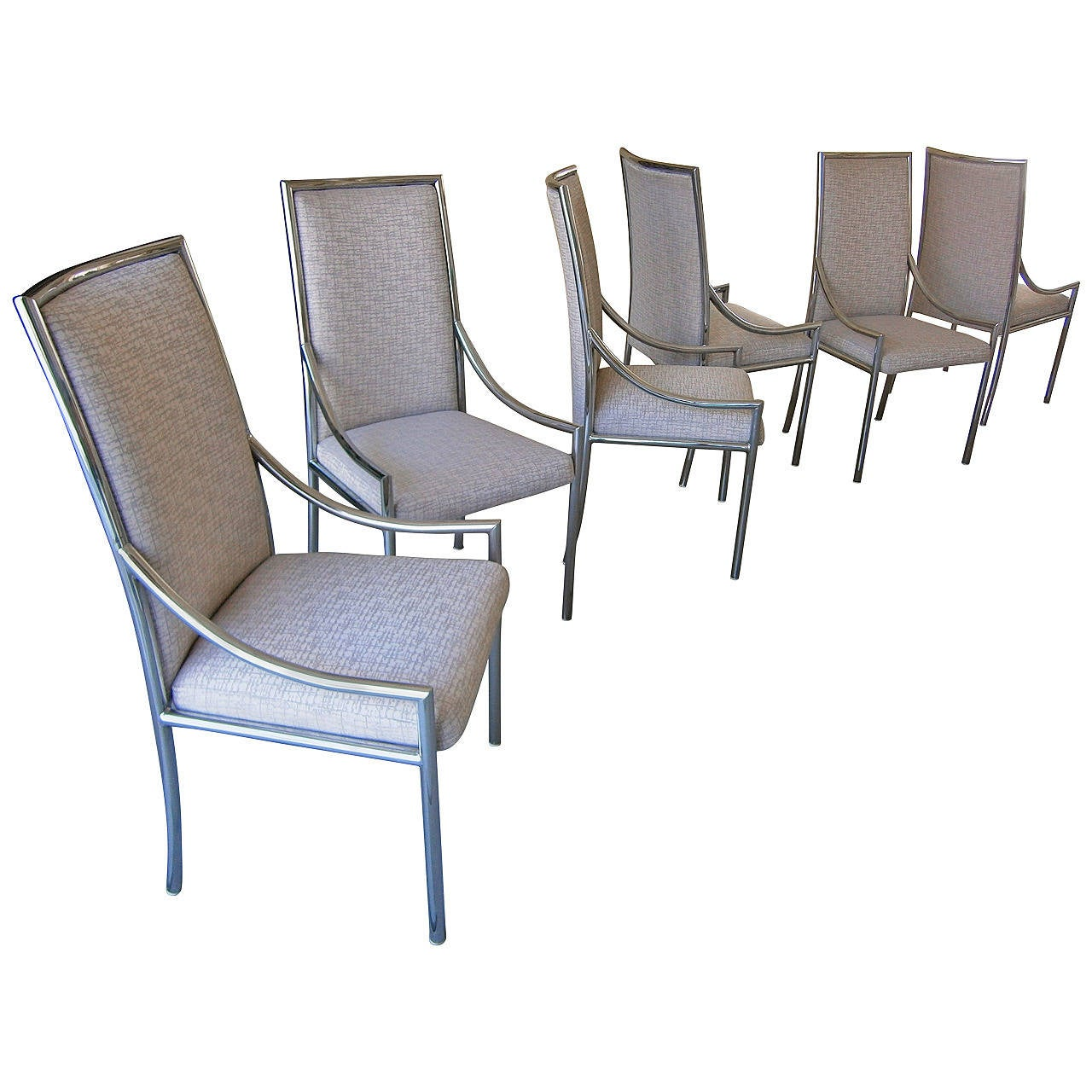 Six Dynamic 1970s Chrome Plated Steel Dining Chairs  : 2667542l from www.1stdibs.com size 1280 x 1280 jpeg 141kB