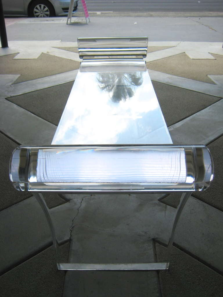 "An ""End Of Bed"" Acrylic Bench C. 1990 At 1stdibs"