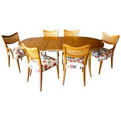 Bleached Mahogany Dining Room Set Designed by Harvey Probber, C.1950s
