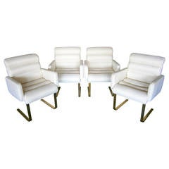 Handsome Set of 4 Lugano Armchairs Made by Mariani for Pace  C 1978