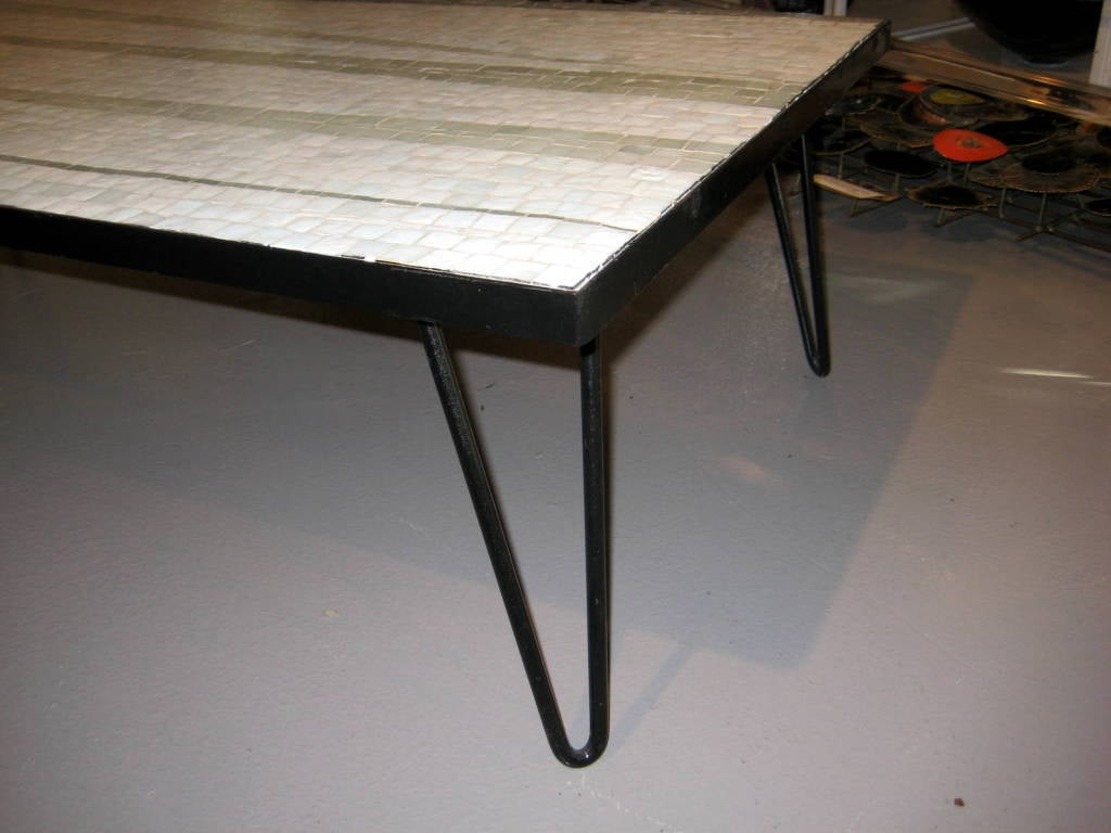 A 1950s Glass Mosaic Topped Coffee Table On An Eames Style Base At 1stdibs