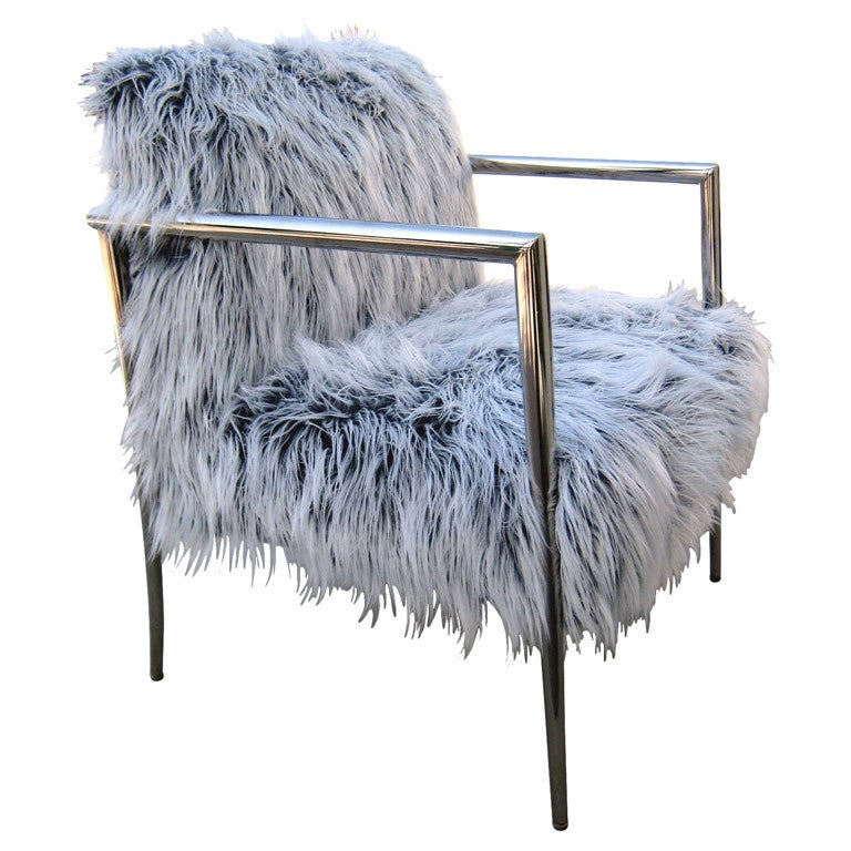 A Faux Fur Covered Armchair C 1980 S At 1stdibs