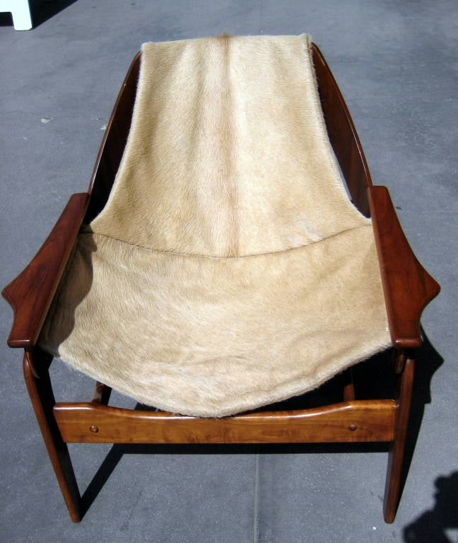 A walnut sling chair designed by Jerry Johnson in 1964 image 4
