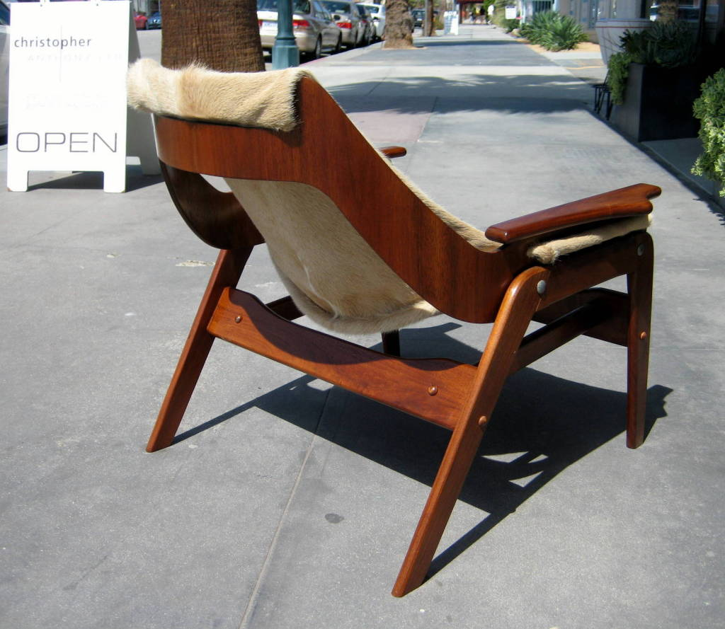 A walnut sling chair designed by Jerry Johnson in 1964 image 5