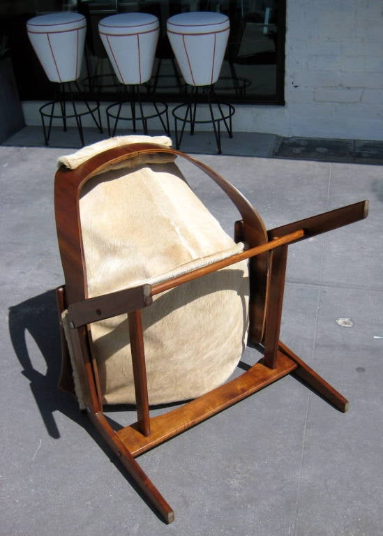 A walnut sling chair designed by Jerry Johnson in 1964 image 7