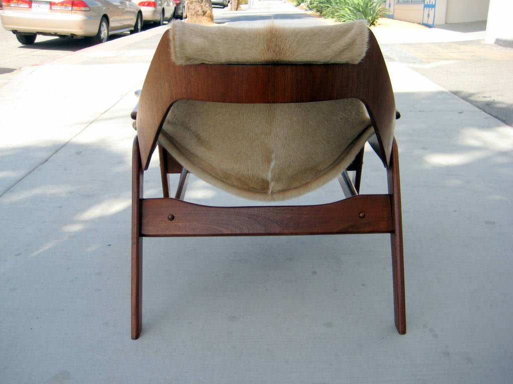 A walnut sling chair designed by Jerry Johnson in 1964 image 9