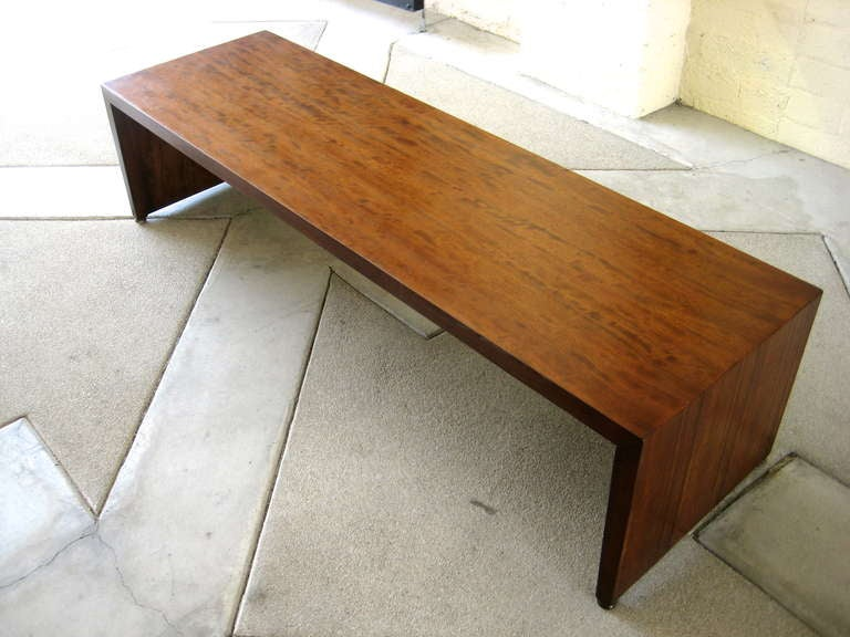 A Quot Perspective Quot Low Bench Coffee Table By Milo Baughman