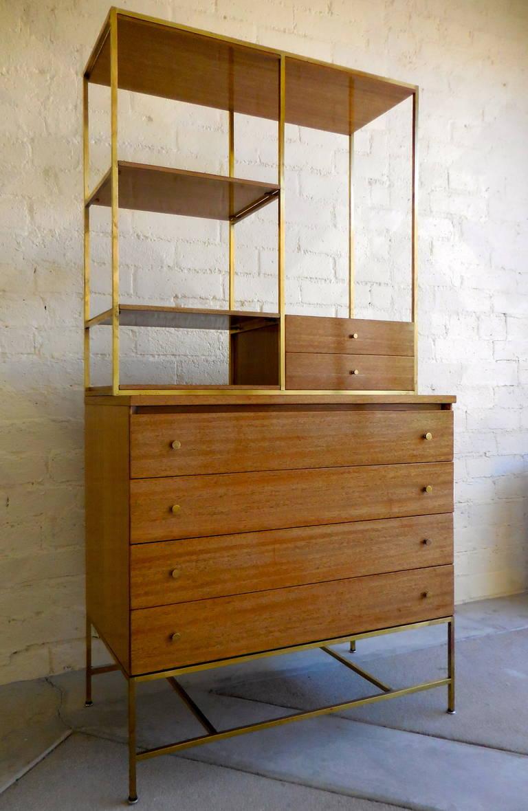 A Rare 1950s Paul Mccobb Dresser With Bookcase For Calvin Furniture 2