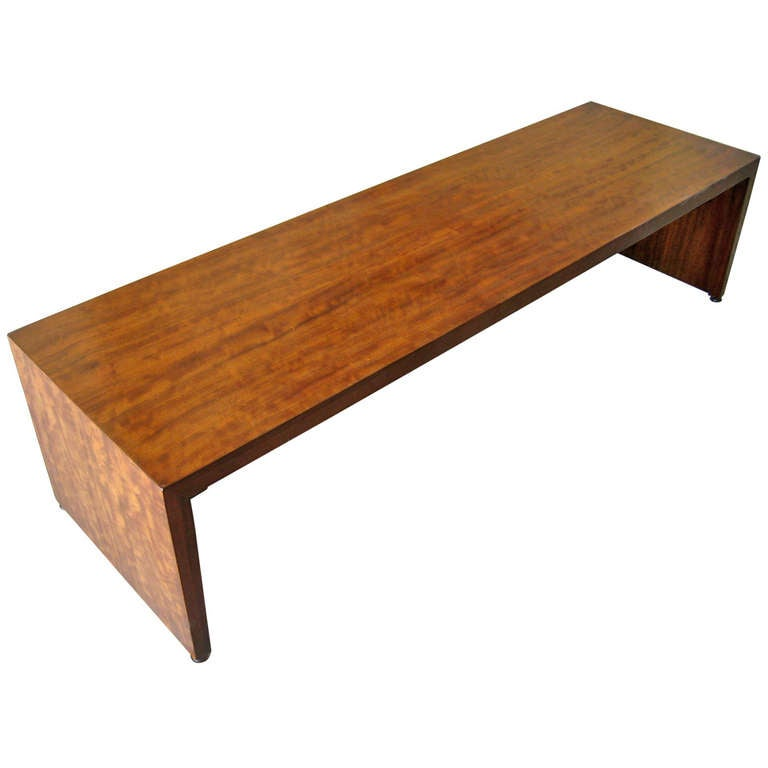 A Perspective Low Bench Coffee Table By Milo Baughman For Drexel At 1stdibs