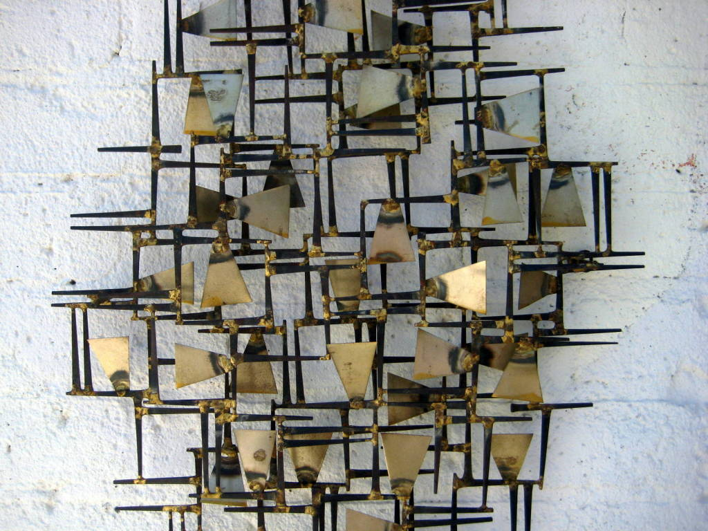 A Vintage 1960 39 S Hand Wrought Abstract Metal Wall