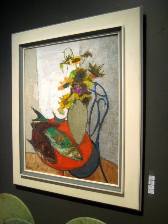 Quot Nature Morte Quot An Oil On Canvas Painting By Marc Picard C 1964 At 1stdibs