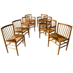Set of Eight Danish Oak Dining Chairs by Jørgen Bækmark for FDM Møbler