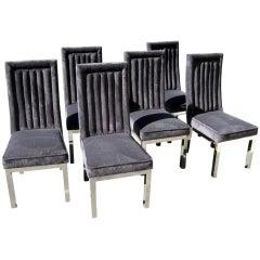 Set of Six Charles Hollis Jones Dining Chairs, circa 1970s