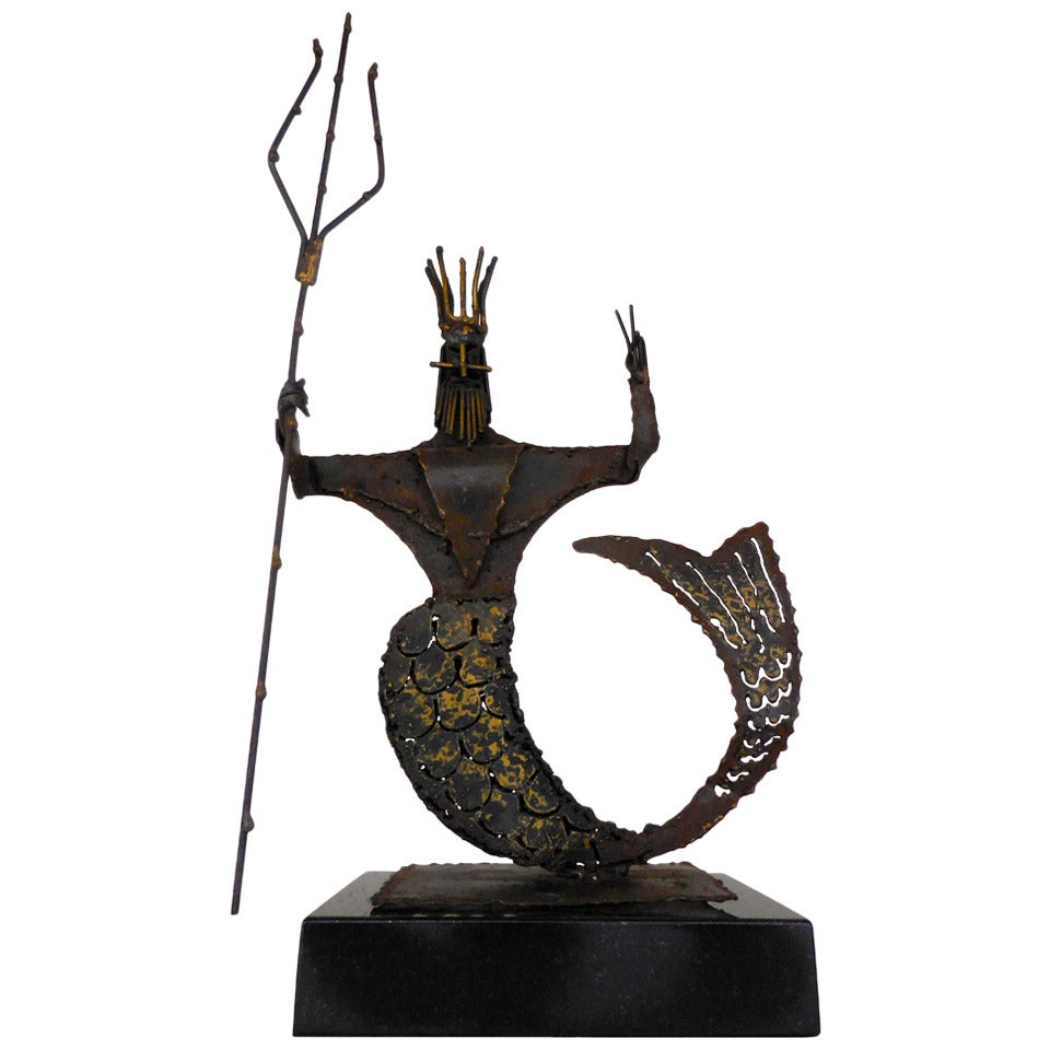 Quot Poseidon Quot 1960s Brutalist Sculpture Of The God Of The Sea