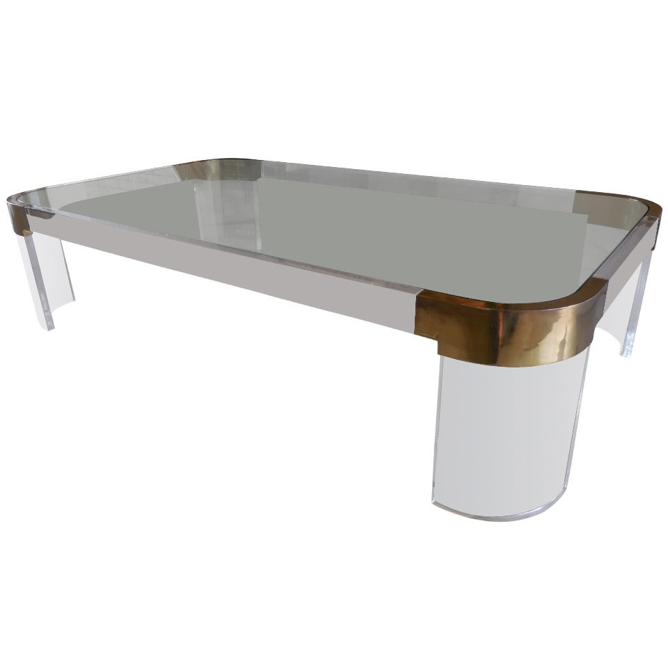Waterfall Lucite Coffee Table X Jpg Lucite Waterfall Coffee Table At 1stdibs Thick Lucite