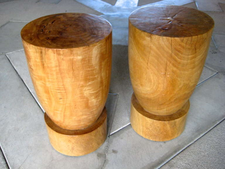 A Pair Of Asian Carved Wood With Butterfly Joint Side