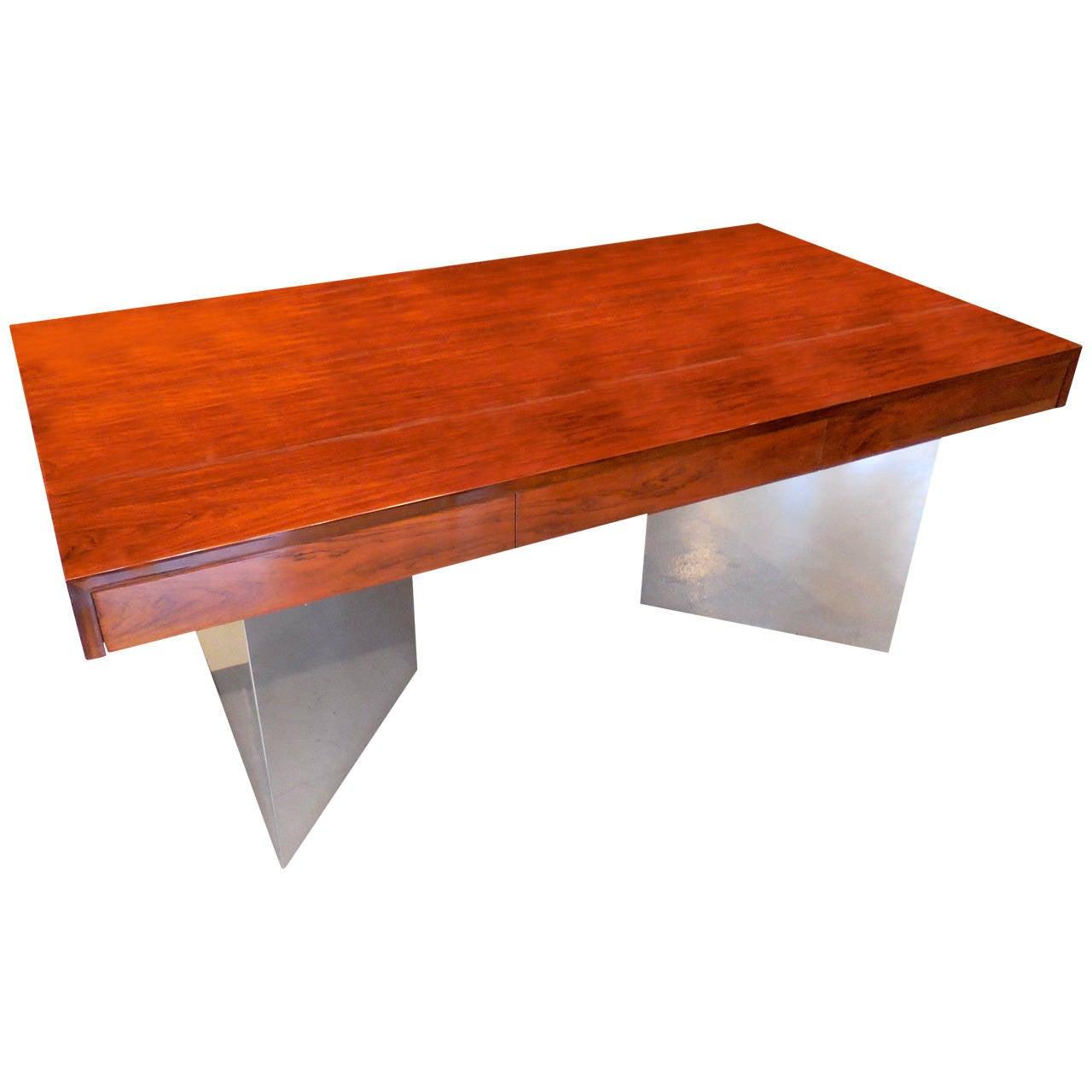 extraordinary executive office desk | Rare and Extraordinary Rosewood Executive Desk by Pace ...