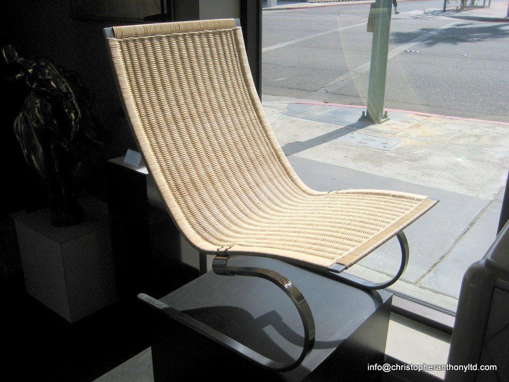 Poul Kj 230 Rholm Pk20 Easy Chair In Bleached Rattan At 1stdibs