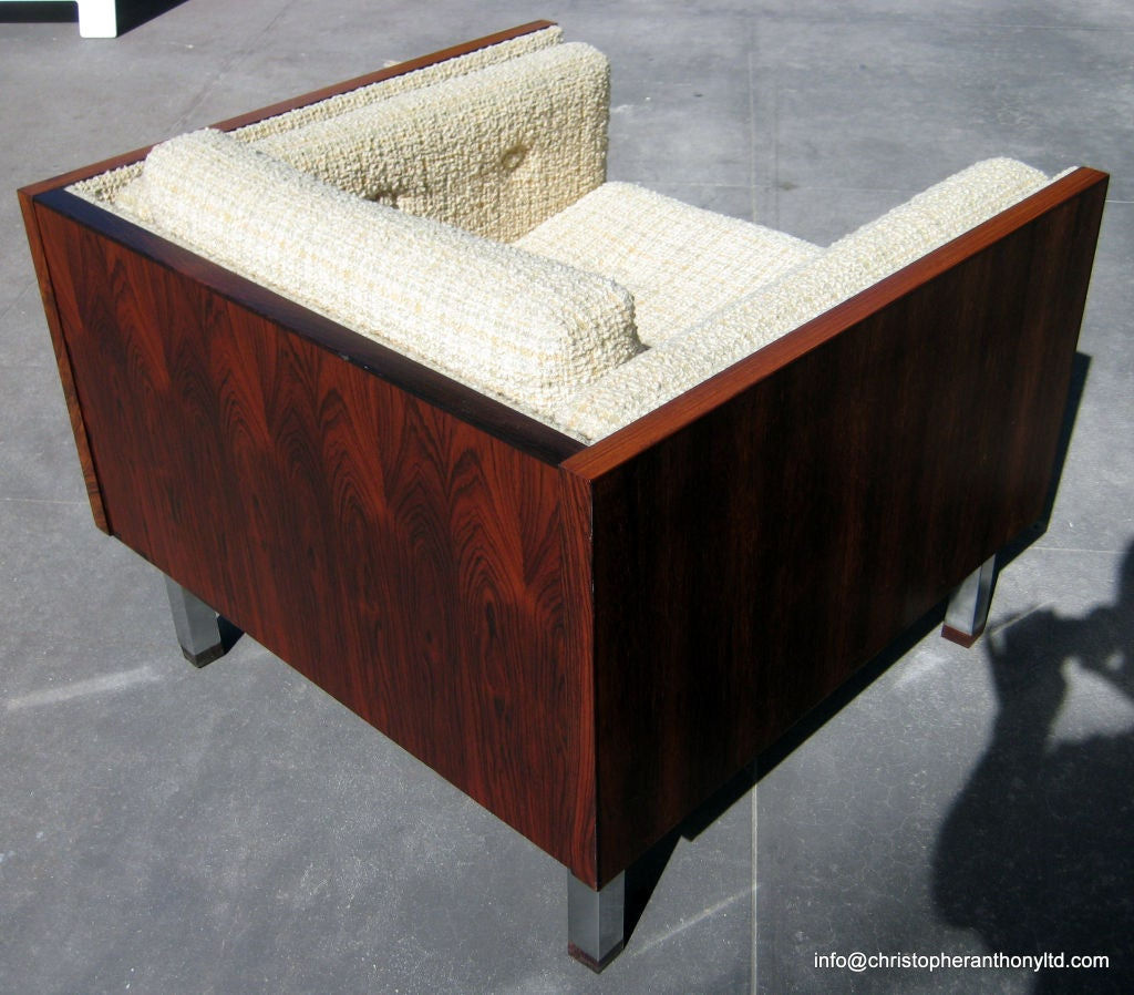 A Danish Rosewood Cube Chair By Jydsk M 248 Belv 230 Rk Circa 1960