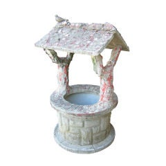 Faux Bois Wishing Well