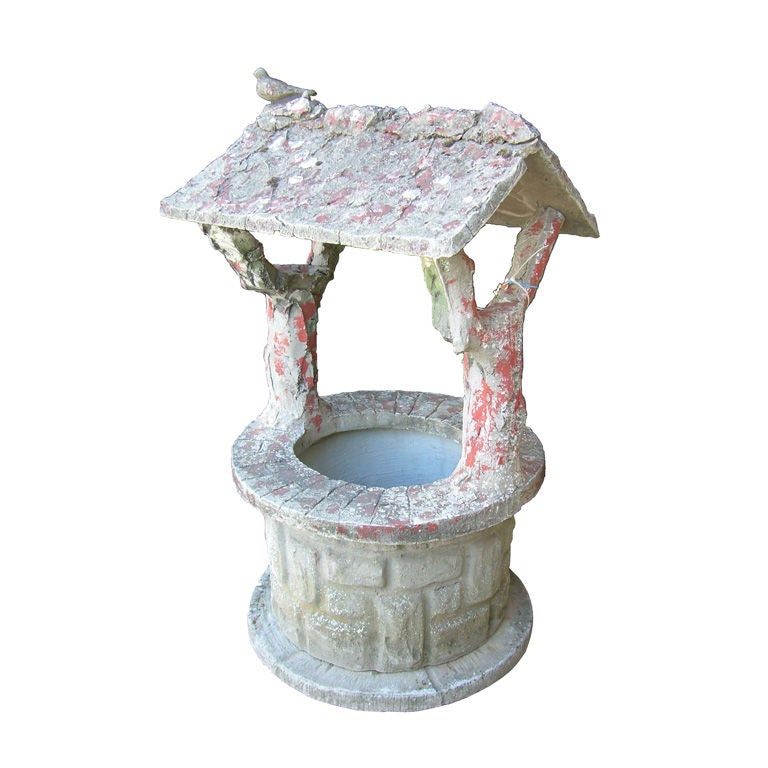 Faux Bois Wishing Well For Sale