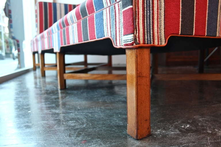 Mid-20th Century Kaare Klint Large Striped Sofa For Sale