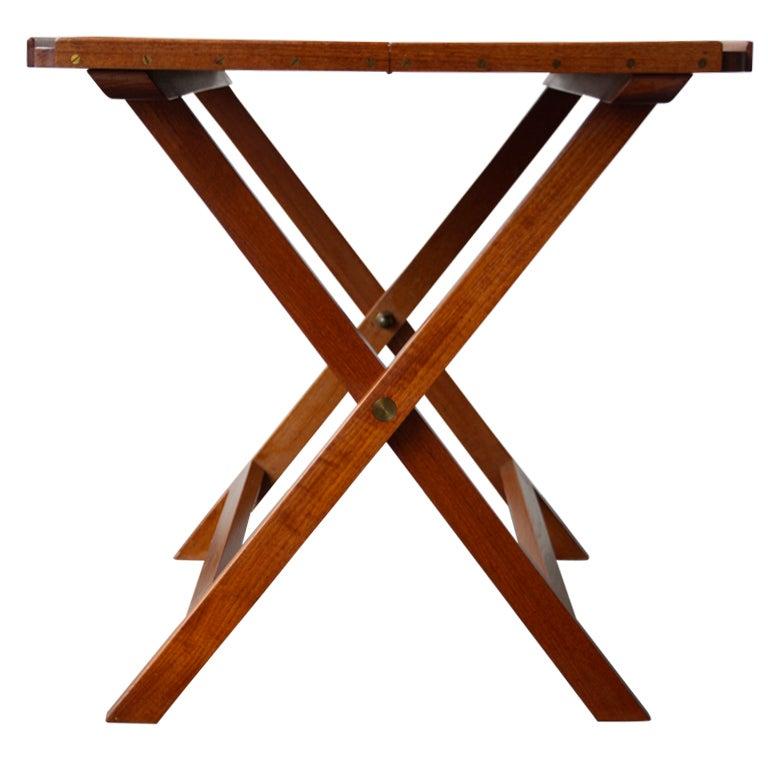 Folding Side Table : Elegant Folding Side Table by Kaare Klint at 1stdibs
