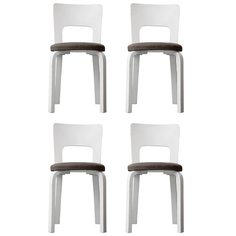 Alvar Aalto Set of Four Dining Chairs