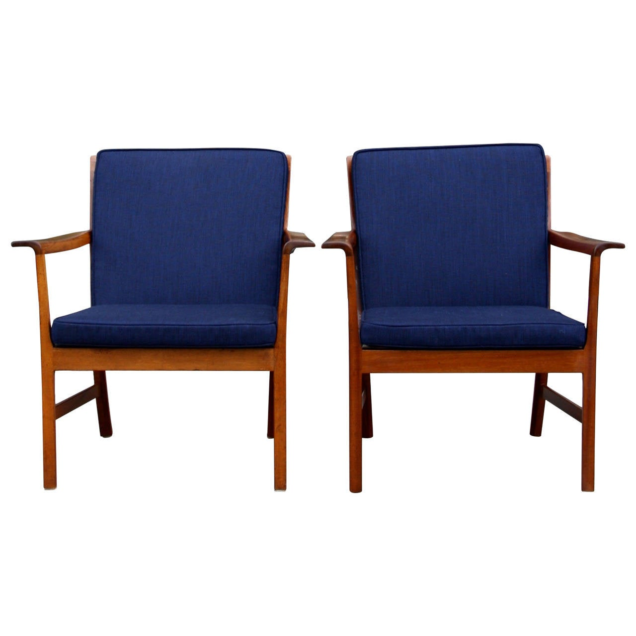 Ole Wanscher Pair of Armchairs