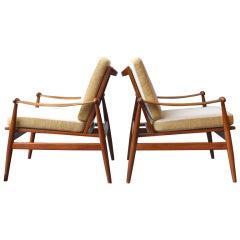 Pair of Spade Chairs by Finn Juhl