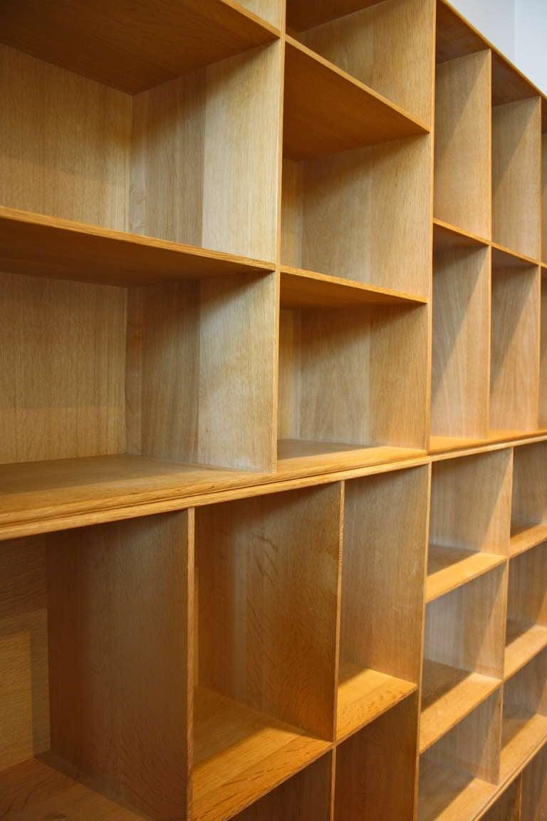 Scandinavian Modern Large Set of 6 Bookcases by Mogens Koch For Sale