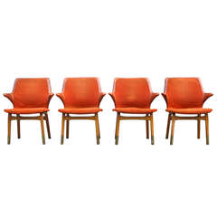 Set of Four Rare Tapiovaara Chairs from The Marski Hotel