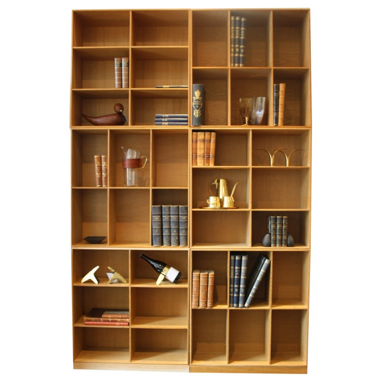 Large Set of 6 Bookcases by Mogens Koch