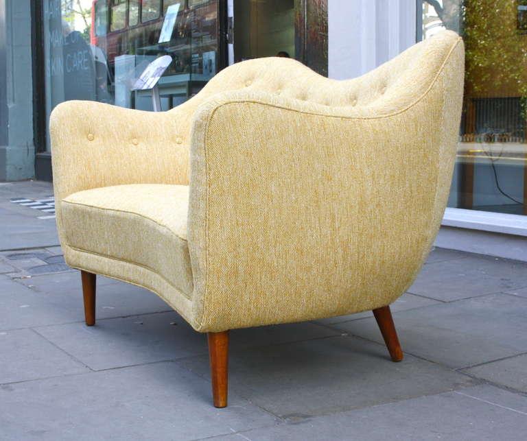 Upholstery Finn Juhl Original BO 46 Sofa For Sale