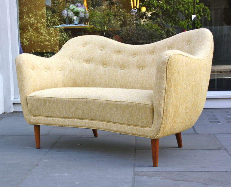 Scandinavian Modern Finn Juhl Original BO 46 Sofa For Sale
